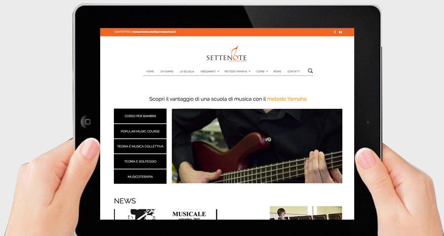 sviluppo e creazione del nuovo sito we della scuola di musica 7 note art & music school