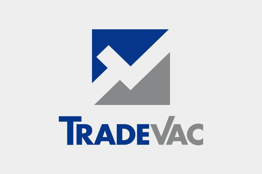 Nuovo marchio TradeVac, per azienda nel settore della vendita di pompe per vuoto, soffianti a canali laterali e ricambi.